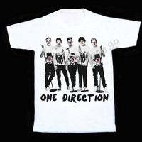 1D Red Nose T Shirts One Direction T Shirt One Direction T Shirts Women Vest Sleeveless Singlet Unisex Women T Shirts White Shirt Size S,M,L