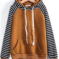 Stripes Hats Women's Fashion Winter Hoodies [9600583119]