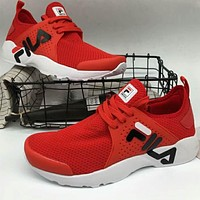 FILA 2018 new soft lightweight fashion casual shoes F-A36H-MY red