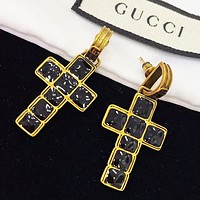 GUCCI  Fashion new diamond cross long earring women accessory
