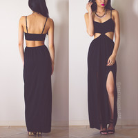 Back In Stock: Into The Night Maxi Dress