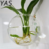 Transparent Clear Glass Round Terrarium Container Flower Plant Stand Hanging Vase Hydroponic Ball Home Wedding Garden Decor