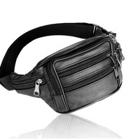 Genuine Leather Waist Bag For Men