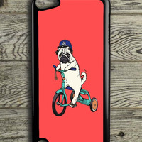 Funny Pug Riding iPod 5 Touch Case