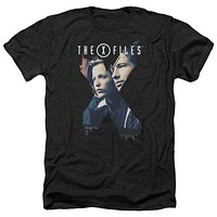The X-Files X Agents Black Heathered Retro T-Shirt