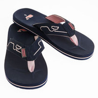 Classic Embroidered Whale Line Flip Flops
