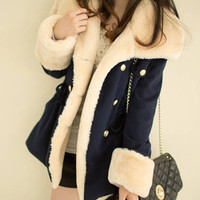 double-breasted wool  winter jacket coat AB830CA