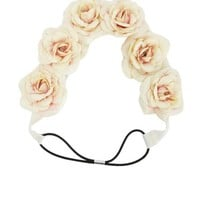 VELVETY ROSE FLOWER CROWN HEAD WRAP