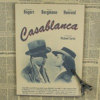 Casablanca movie poster old Hollywood classic love bar theater Cafe decorative painting Painting & Calligraphy