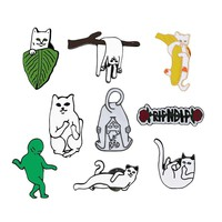 Hot Cartoon Funny Cat Brooches Animal Enamel Pin for Women Jackets Lapel Pins Bag Metal Badges Button Corsage Fashion Jewelry