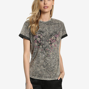 DC Comics Batman Flowers Womens Tee - BoxLunch Exclusive