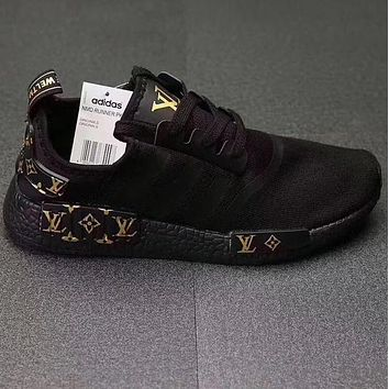 Adidas NMD x LV Louis Vuitton Popular Women Casual Running Sports Shoes Sneakers Black I-CSXY