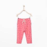 Polka dot loose trousers