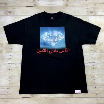Diamond Supply Co. Diamond Graphic Arabic Script Shirt Made in USA Mens Size XL