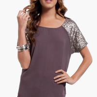 Fool's Gold Sequin Blouse $23