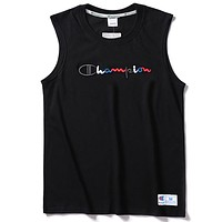 Champion 2019 new men's embroidered logo sleeveless vest Black