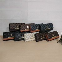 Louis Vuitton LV Hot Sale Men's and Women's Long Style Trendy Large Capacity Simple Wallets