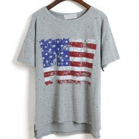 Vintage Look US  Stars and the Stripes  Flag T-shirt