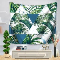 Polyester Tapestry Printed geometry Leaves Home Decoration Wall Blankets Mandala Tapestry Wall Hanging Hippie Tapestry Tapiz