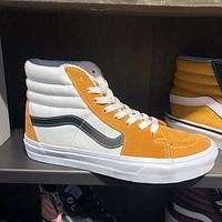 VANS SK8 new orange white black high-top men's and women's sneakers casual shoes