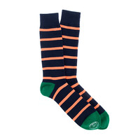 Naval-stripe socks