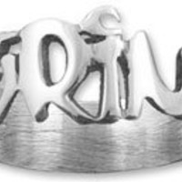 Personalized Sterling Silver Graffiti Style Any Name Ring