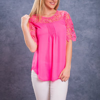 Wow Factor Blouse, Hot Pink