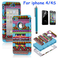 shopping2013 — Totem Protective Case For Iphone 4/4s/5 with pen and sticker