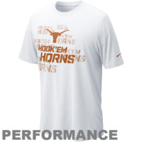 Nike Texas Longhorns Football Official Practice Performance T-Shirt - White