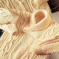 "Aran Sweater and Cardigan Knitting Pattern PDF instant download. Size 20"" - 28"". Baby Jumper and cardigan, Children's sweater and cardigan"