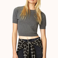 FOREVER 21 Sweet Cropped Sweater