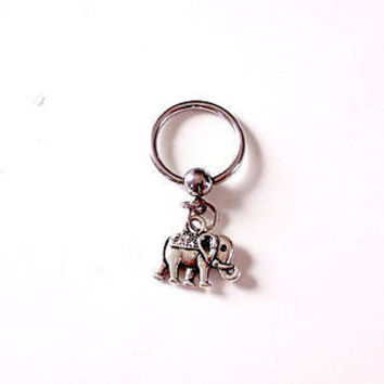 Elephant Captive Hoop 14ga Belly/ Navel Earring Body Jewelry