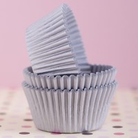 Silver Grey Cupcake Liners