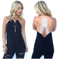 Strong Connection Tank In Black