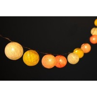 20 X Pastel Mix Yellow Soft Ambience Light Color Cotton Ball String Light Decor Home Living Room Patio Wedding Light Party Display