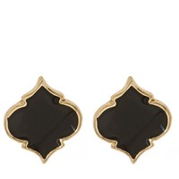 Fornash Enamel Spade Earrings