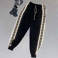 Gucci Fashion Reflective Stringed Bottoms Pants Terry Sweatpants