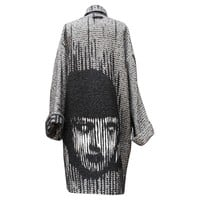 Fall 2013 Jean Paul Gaultier Black and White Coat