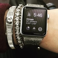 Case-Mate - Brilliance Smartwatch Band for Apple Watch™ 38mm - Silver