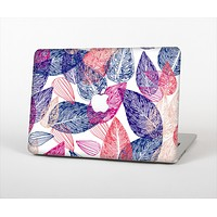 The Seamless Pink & Blue Color Leaves Skin Set for the Apple MacBook Air 11""