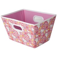 Hello Kitty Open Top Storage Bin with Handles and ID Badge Slot (Medium) (Pink)