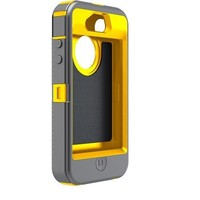 Otterbox Defender Series Hybrid Case & Holster for iPhone 4 & 4S - Retail Packaging - Sun Yellow/Gunmetal Grey