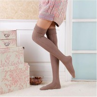 Feminino Sexy Over Knee Sock New Fashion Rain Boot Cuff Socks Long Thigh High Socks Meias Meninas SK80021+30