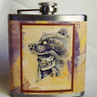 American Indian Flask  Bear Clan Chief by Bloodlines on Etsy