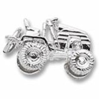 Riding Lawn Mower Charm In Sterling Silver
