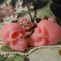 Larger Size Beeswax Pink Skull Candle dia de los Muertos Choice Of Color