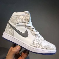 """Nike Air Jordan 1 OG Laser AJ1"" Men Casual Fashion High Help Plate Shoes Sneakers"