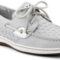Sperry Top-Sider Bluefish Woven 2-Eye Boat Shoe GrayWovenLeather, Size 12M  Women's Shoes