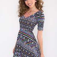 Round and Round Aztec Dress