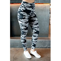 Lazy Days Leggings (Grey Camo)